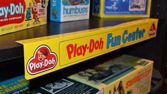 play doh center plastic shelf talker display