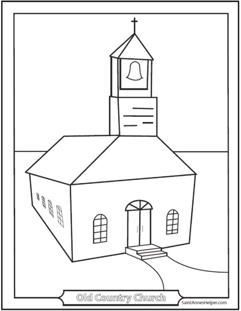 Church Building Template Picture Of Church Building Coloring Pages