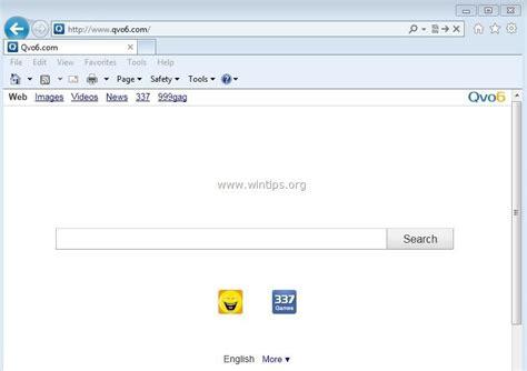 remove qvo6 hijacker removal guide spywareremove remove qvo6 search hijacker virus wintips org windows