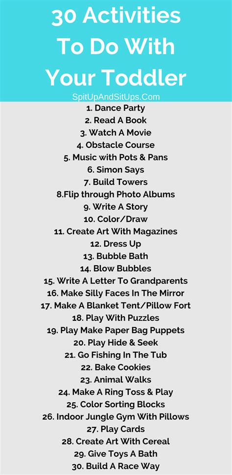 To Do From Home by 30 Indoor Activities With A Toddler Spit Up And Sit Ups