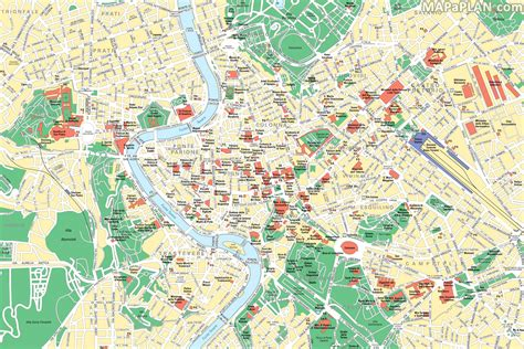 tourist map of central rome map central rome interesting places to visit