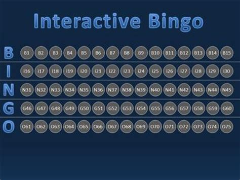 bingo interactive a education powerpoint template from
