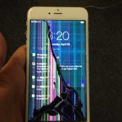 buying iphone     totally smashed