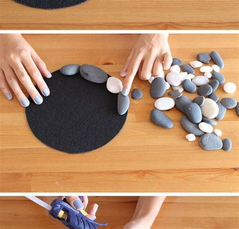 home decorating ideas on a budget pebble and stone crafts