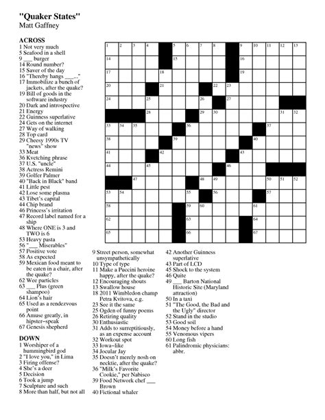 printable dell puzzles matt gaffney s weekly crossword contest mgwcc 170