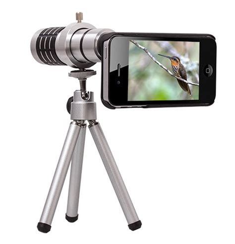Tele Zoom Tripod 12x mobile telephoto zoom lens tripod kit for