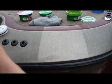 how to remove heavy oxidation from fiberglass boat very fast easy way to remove chalky effect of oxidati