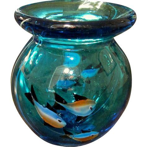 Vase Aquarium mid century italian murano glass aquarium vase from