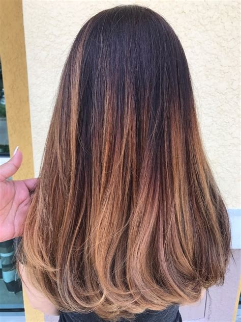 red  strawberry blonde ombre beauty fashion