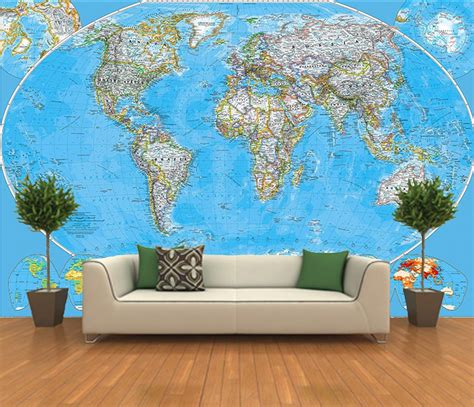wall murals wallpaper peel and stick photo wall mural decor wallpapers world map 100