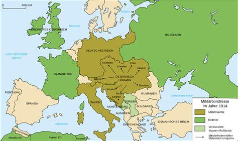 europe map 1914 file map europe alliances 1914 de svg