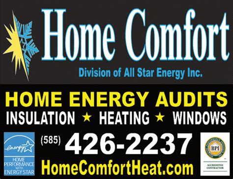 home comfort rochester ny all star energy inc home comfort heating cooling