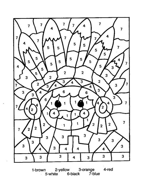 free color by number christmas coloring pages new
