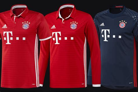 Jersey Bayern Munchen Home Official 17 18 Grade Ori official fc bayern munich 2016 17 home kit w collars released bavarian football works