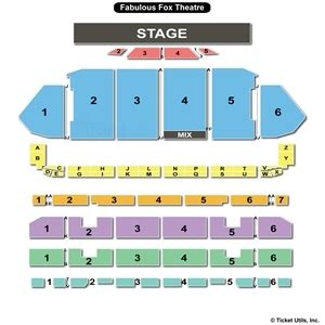 fabulous fox seating fox theater st louis seating chart mahone the