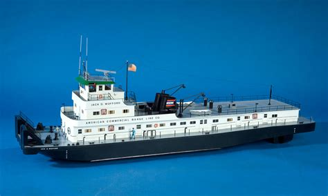 tow boat on the water rigged model towboat jack d wofford