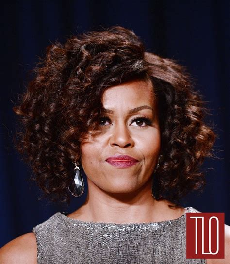 michelle obama hair weave michelle obama in zac posen at the 2015 white house