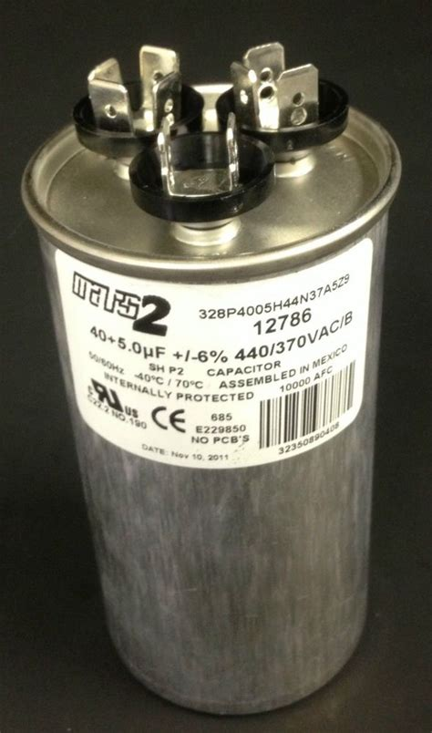 run capacitor 40 5 mfd mars capacitor 40 5 mfd 440v 12786 ebay