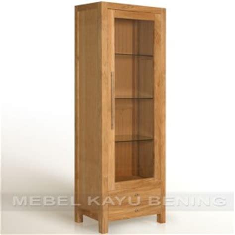Lemari Makan Kaca lemari pajangan kaca model minimalis jati vipro mebel
