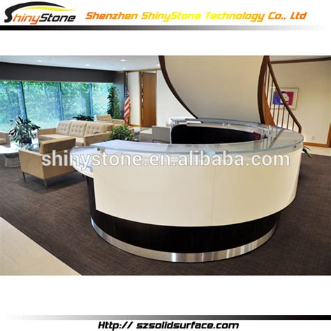 white glossy rounded solid surface artificial marble half