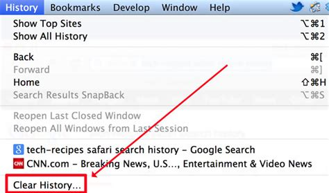 History Of Address Search Safari How To Clear The Search Box History