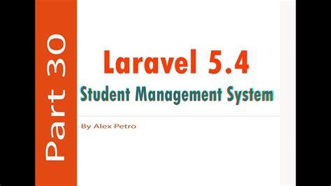 laravel 5 default layout laravel 5 4 student management system export to excel