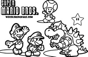 mario brothers coloring pages collections