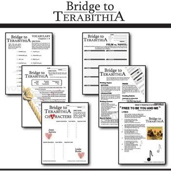 Bridge To Terabithia Novel Study Guides For The Teacher | the bridge to terabithia unit novel study literature