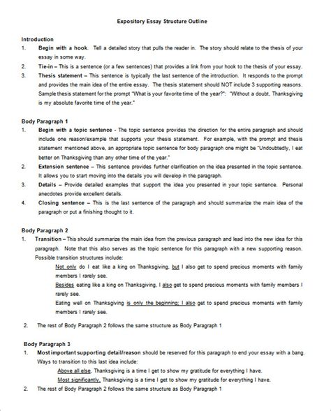 Expository Essay Outline by Essay Outline Template 10 Free Free Word Pdf Format Free Premium Templates