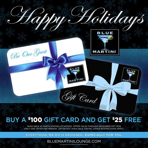 Gift Card Ad - a november to remember at blue martini orlando bluemartini