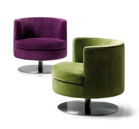 Swivel Living Room Chairs Contemporary Frisbee Swivel Chair Modern Design Living Room Seating