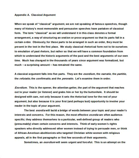 How To Write A Persuasive Argument Essay by Five Paragraph Argument Essay Exle