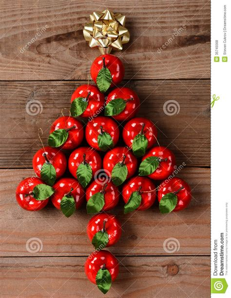 Bow Windows Pictures apple ornaments in christmas tree shape royalty free stock