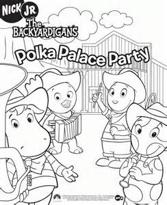 backyardigans color pages coloring