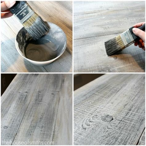 faux barn wood painting techniques how to make new lumber look like weathered barnwood my