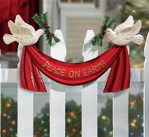 christmas staked fences attractive home decoratives home designing