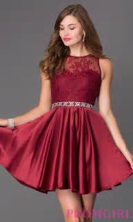 sleeveless fit and flare prom dress promgirl