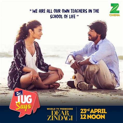 Letter Zee Cinema 5 Reasons To The World Tv Premiere Of Dear Zindagi On 23rd April At 12 Pm On Zee Cinema
