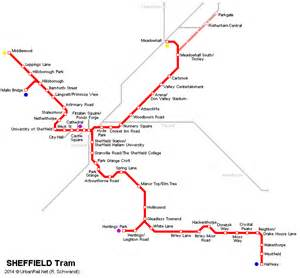 sheffield map tramtrain s in the uk news for rail for the valley