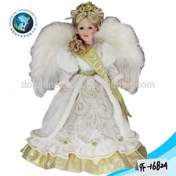 porcelain doll companies beautiful white wedding dress doll with wing cheap