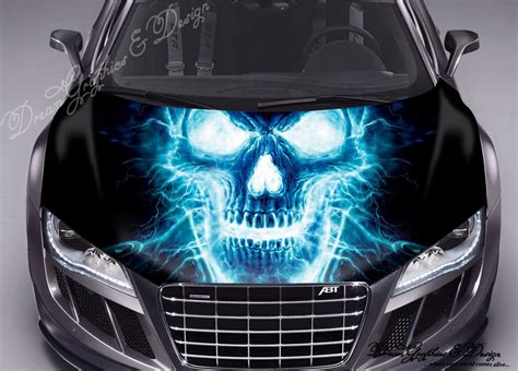 Hulk Aufkleber Motorhaube by Sticker Decal Vinyl Color Hood Fit Any Car Skull 109