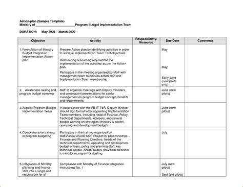 sle action plan template plan template