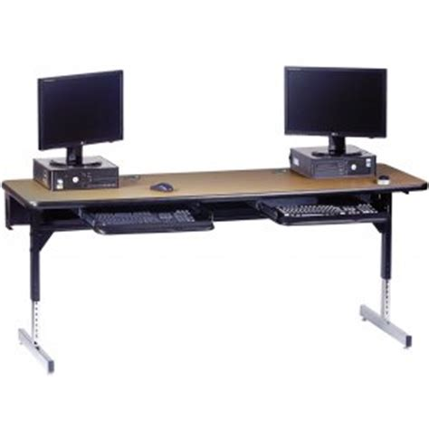 8700 series adjustable classroom computer table 60x24