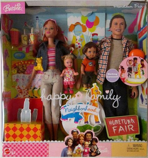 human barbie doll family barbie happy family neighborhood hometown fair gift set