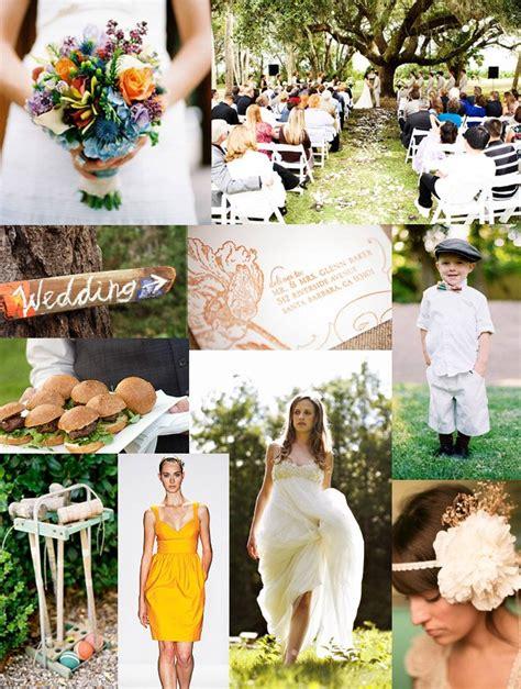 Summer Backyard Wedding by A Backyard Wedding Inspiration Board Green Wedding