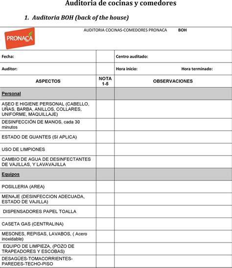 comedor industrial pdf auditoria de cocinas y comedores pdf