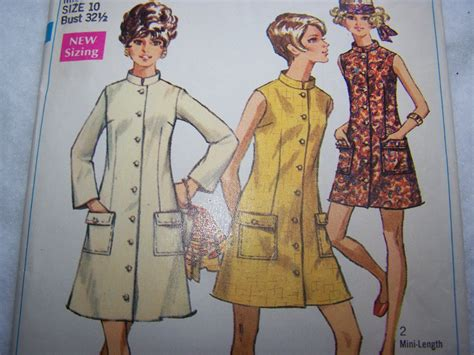 regex pattern length 60 s misses vintage sewing pattern 8077 coat dress