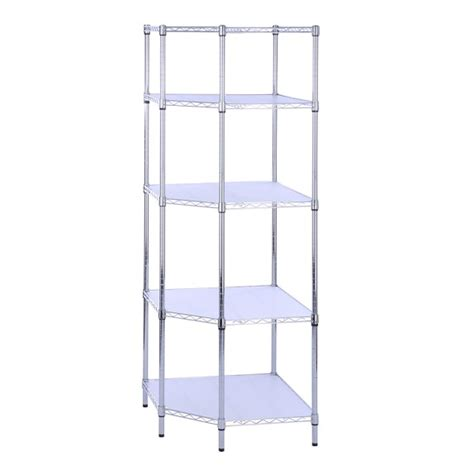 5 tier chrome corner shelf unit williams sonoma