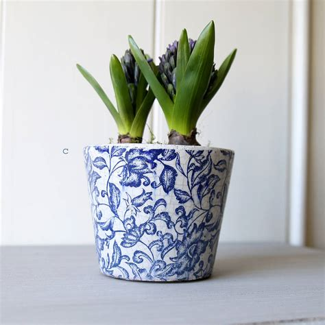 Plant Pots by Floral Patterned Plant Pot By Lilly