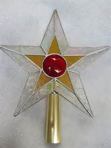 stained glass star christmas tree topper by renaissanceglass